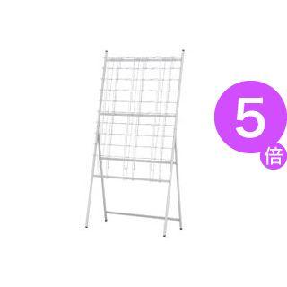 ■5倍ポイント■イワサキ パンフレットスタンド 3列10段 A4サイズ TZR-PSN230LG 1台[21]