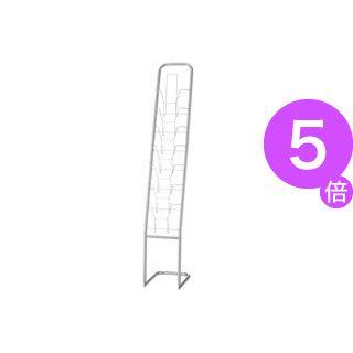 ■5倍ポイント■ピージーグロリア パンフレットスタンド 1列7段 A4サイズ YS-7 1台[21]