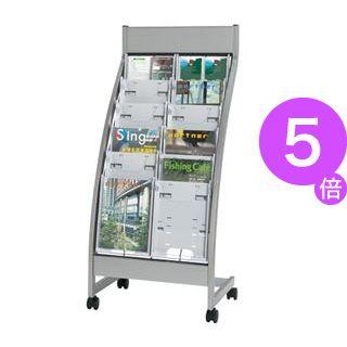 ■5倍ポイント■エヌケイ パンフレットスタンド PSL-C206-W 2列6段[21]