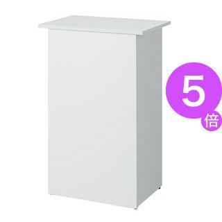 ■5倍ポイント■アール・エフ・ヤマカワ 収納付無人カウンター SHRC-600WH ホワイト[21]