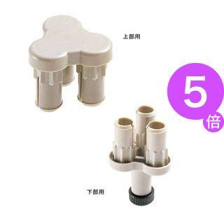 ■5倍ポイント■(業務用10セット) ジョインテックス 衝立SPX 3方向連結樹脂上下セット SPX-3S[21]