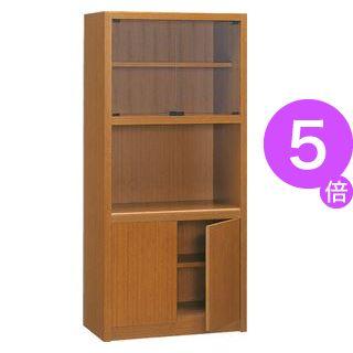 ■5倍ポイント■プレジデント用書棚 PK-818B 【社長室、役員用家具】[21]