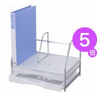 ■5倍ポイント■(業務用3セット) プラス ブックスタンド付レターケースA4横LC-212BS[21]