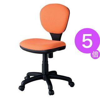 ■5倍ポイント■ジョインテックス 事務イス(オフィスチェア/OAチェア) C301J オレンジ[21]