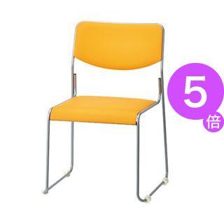 ■5倍ポイント■サンケイ 会議イス CM270-MZX レザー オレンジ[21]