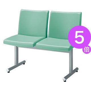 ■5倍ポイント■ジョインテックス ロビーチェア AC-L201 ライトグリーン2人用[21]