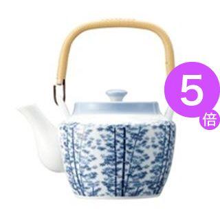 ■5倍ポイント■(業務用10セット) ピーアンドエス 8号土瓶 竹林 茶こし網付 10311[21]
