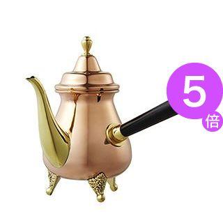 ■5倍ポイント■Kalita(カリタ) 銅カフェオ・レ ポット 右手用 /銅カフェオ・レ ポット (3-5人用) 52003[21]