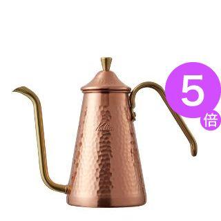 ■5倍ポイント■Kalita(カリタ) 700CU /TSUBAME & Kalita ドリップポット スリム 700 銅製 52203[21]