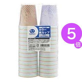 ■5倍ポイント■ジョインテックス カラー紙カップCC柄 7oz2400個 N026J-7C-P[21]