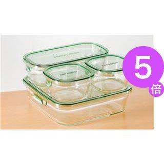 ■5倍ポイント■iwaki パック&レンジシステムセットミニ(耐熱ガラス) PST-PRN4G2[21]