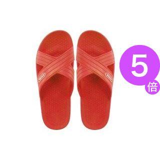 ■5倍ポイント■(業務用50セット) ニッポンスリッパ クロスサンダル 348981 婦人 L レッド[21]