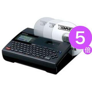 ■5倍ポイント■(業務用2セット) カシオ計算機(CASIO) ディスクタイトルプリンター CW-K80[21]