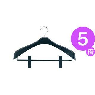 ■5倍ポイント■(まとめ)リバース ジャケットハンガー クリップ付 42cm 100本[21]