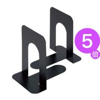 (業務用80セット)ジョインテックス ブックエンド L 黒 2個/1組 B168J-L-BK 【×80セット】[21]