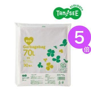 ■5倍ポイント■(まとめ)TANOSEE ポリエチレン収集袋 透明 70L 30枚入×15パック[21]