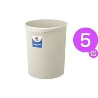 ■5倍ポイント■(業務用5セット)ジョインテックス 持ち手付きゴミ箱丸型18.3Lグレー N153J-G5 5個 ×5セット[21]