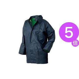 ■5倍ポイント■(業務用50セット) おたふく手袋 レインスーツ ネイビー #RF-1 LL[21]