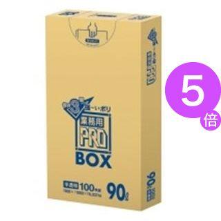■5倍ポイント■(業務用10セット) 日本サニパック 3層ゴミ袋業務用PRO 90L 半透明 100枚[21]
