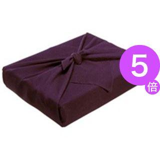 ■5倍ポイント■(業務用5セット) ながとや 正絹ちりめん風呂敷 ユ-022 紫無地[21]