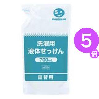 ■5倍ポイント■(業務用5セット) ジョインテックス 洗濯用液体せっけん 700mL 12袋 N207J-12[21]