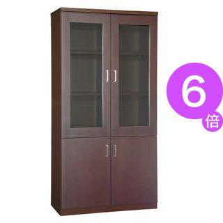 ■6倍ポイント■プレジデント用書棚 PXG-918B 【社長室、役員用家具】[21]