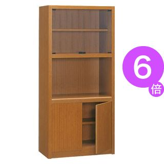 ■6倍ポイント■プレジデント用書棚 PK-818B 【社長室、役員用家具】[21]
