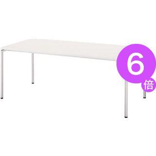 ■6倍ポイント■ミーティング用テーブル CO-187T-W ホワイト[21]