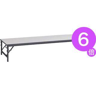 ■6倍ポイント■ゼミテーブル座卓 TAB-1860 ライトグレー[21]