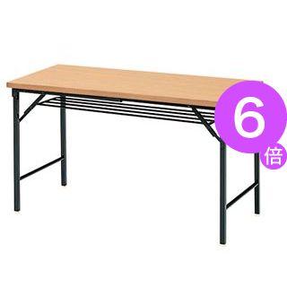 ■6倍ポイント■ジョインテックス 脚折りたたみテーブル TWS-M1245NA[21]