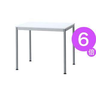 ■6倍ポイント■ユニットテーブル(W800×D600mm・ホワイト)[21]