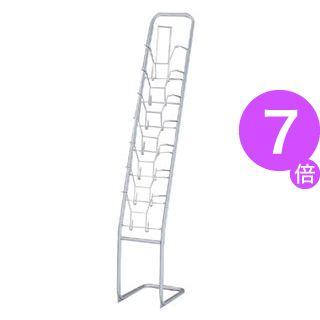 ■7倍ポイント■林製作所 パンフレットスタンド YS-7 1列7段[21]