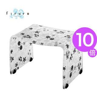 ■10倍ポイント■風呂椅子 バスチェアー Mサイズ フィルロ フラワー ブラック【代引不可】 [01]