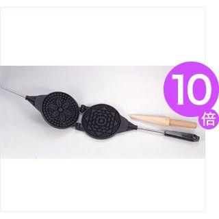 ■10倍ポイント■ゴーフレットメーカー ゴーフルメーカー ガス火専用 フッ素樹脂加工 [01]