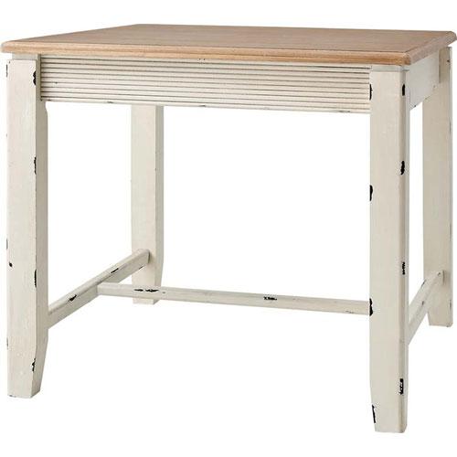 開梱設置が選べる アンティーク風木製ダイニングテーブル 幅80cm ブロッサム