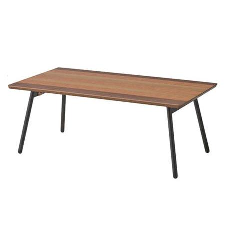 木目グラデーション折りたたみリビングテーブル エルマー 幅90cm