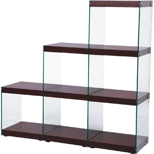 ガラス階段ラック ハブ 幅123cm 高さ121cm 3段