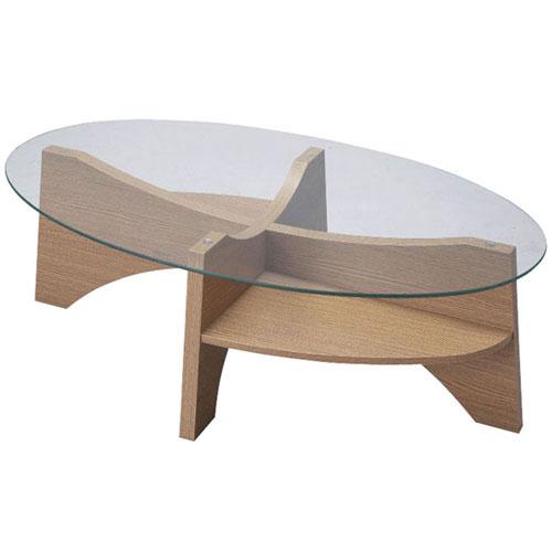 ガラスリビングテーブル 幅105cm