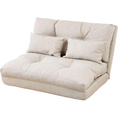 2人掛け折りたたみリクライニングソファベッド 幅90cm 布張 エリス