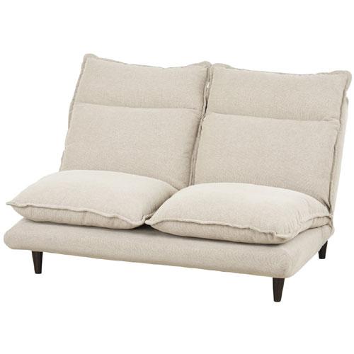 2人掛け左右分割リクライニングソファ 幅134cm 布張 チャミー