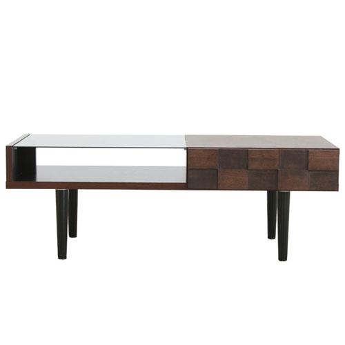 ガラスリビングテーブル コルク 幅110cm ga-ck-table-110