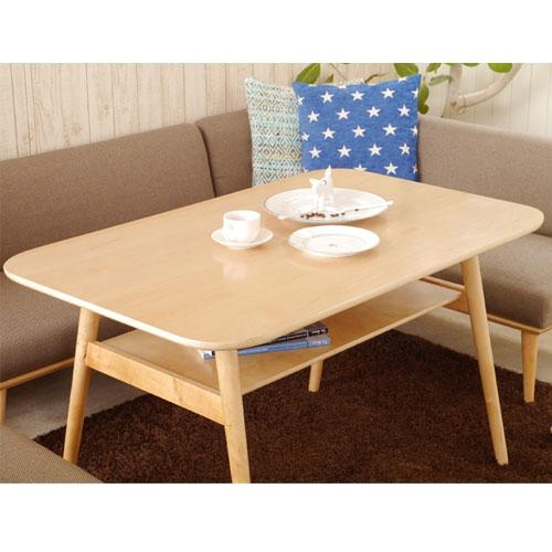 ロータイプダイニングテーブル 幅120cm プリ ナチュラル ga-pu-ta-130-na
