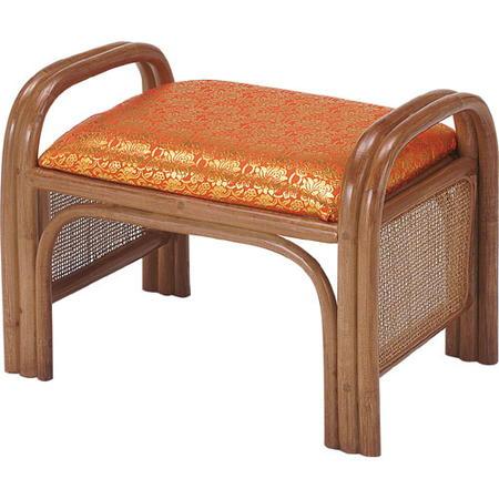 籐座椅子 ご仏前用金襴 朱 c41