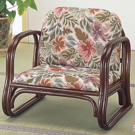 籐正座椅子 背もたれ付 s123