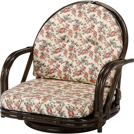 籐回転座椅子 ロー s251b