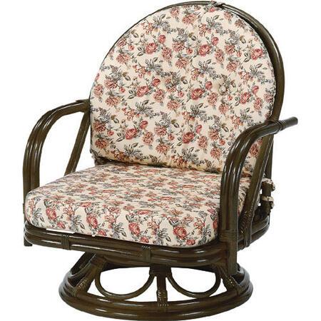 籐回転座椅子 ミドル s252b