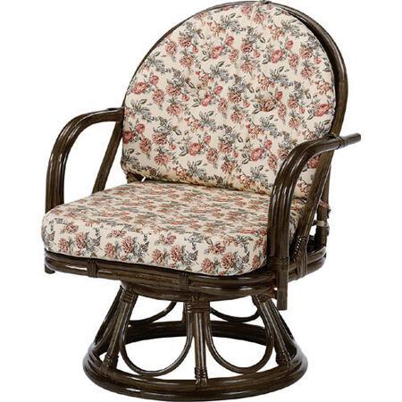 籐回転座椅子 ハイ s253b