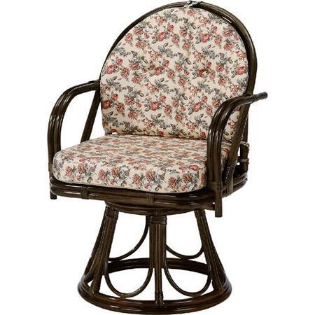 籐回転座椅子 ハイ s254b