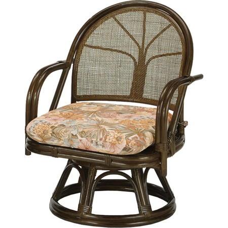 籐回転座椅子 ミドル s303b