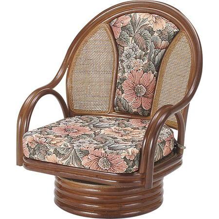 籐回転座椅子 ミドル s522b